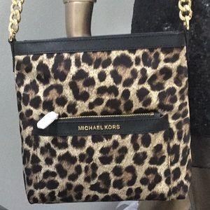 Michael Kors NWT Leopard Crossbody Bag